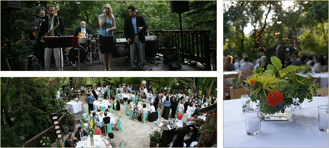 Outdoor wedding reception in Salt Lake City, UT