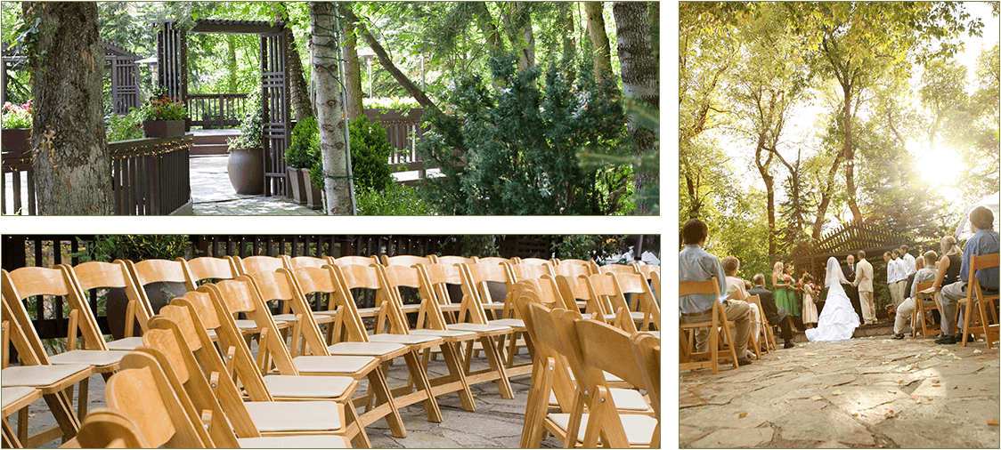 Outdoor wedding ceremony venue in Salt Lake City, UT